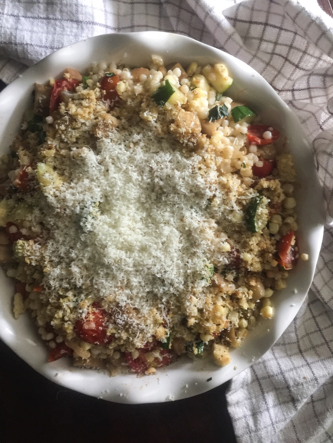 ISRAELI COUSCOUS WITH ROASTED SUMMER VEGETABLES VIRGINIA S
